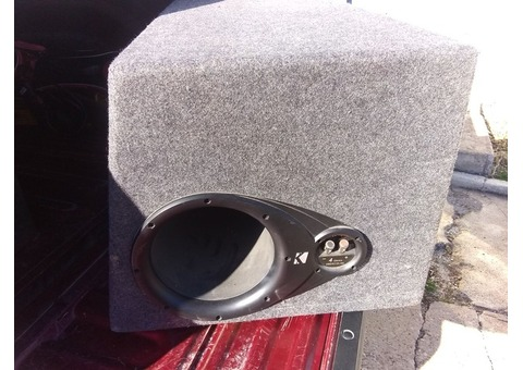 KICKER DUAL 12 INCH SPEAKERS WITH BOSS AMP
