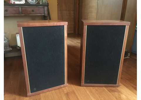 1972 Epicure M150 Speakers in Wood Cabinets