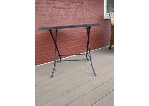 Outdoor metal table for two