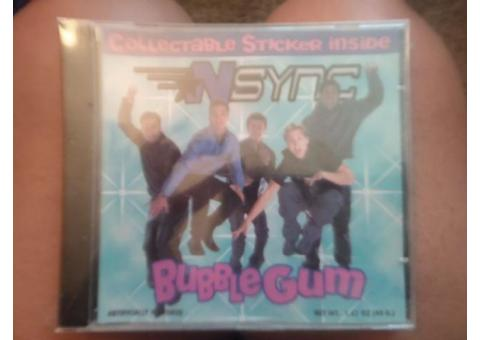 Collectible NSYNC bubble gum flavored CD