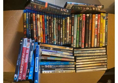Lot of 60 dvds / blue ray